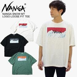 ナンガ(NANGA)NANGASNOWMTLOGOLOOSEFITTEEロゴルーズフィットティーマーブルメンズ/Tシャツ半袖/ポイント10倍国内正規品[AA]