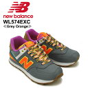 【送料無料】ニュー バランス(New Balance) WL574/574 Weekend Expedition ランニング スニーカー ≪WL574EXC/Grey Orange≫シューズ/レディー