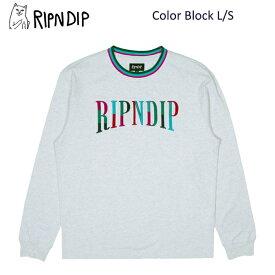 リップンディップ(RIPNDIP) Color Block L/S 《Heather Grey》長袖 Tシャツ/ロングスリーブ /メンズ[BB]