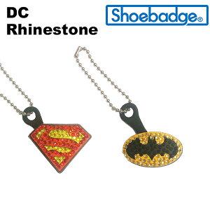 DC ジョイント付き ラインストーン シューバッジ(DC logo Shoebadge) シューズアクセサリー/クロックス/アメコミ/ロゴ/スーパーマン/バットマン ゆうパケット可 [小物] [AA-1]