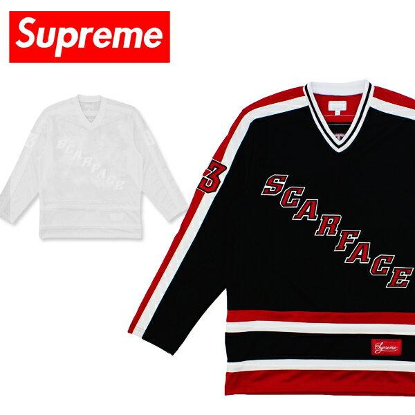 【送料無料】シュプリーム(Supreme)Scarface Hockey Jersey(スカーフェイス ホッケー ジャージ)カットソー/長袖シャツ/男性用/メンズ【楽ギフ_包装選択】[BB]