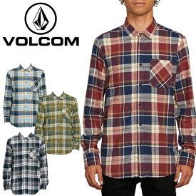 ボルコム(VOLCOM) CADEN PLAID LONG SLEEVE FLANNEL(A0541802) 長袖シャツ/ネルシャツ/男性用【38】[AA]