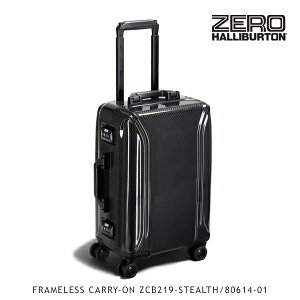 ゼロハリバートン(ZERO HALLIBURTON) カーボンファイバー FRAMELESS CARRY-ON ZCB219-STEALTH/80614-01 カーボンファイバー/キャリーケース/スーツケース/ハードラゲージ 送料無料 [GG]