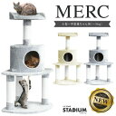 【マラソンポイント10倍】【安全性の高い素材を使用した】 キャットタワー stadium MERC 猫 キャット cat 低ホルムで…