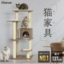 キャットタワー Woody 木目調 猫タワー 猫 キャット タワー 猫用品 据え置き 多頭飼い 子猫 大型 頑丈 爪とぎ ネコ キ…