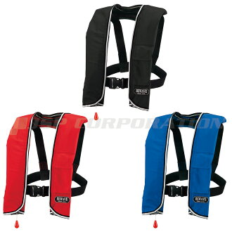 BEWAVE manual inflatable life vest neck hang-Ocean LG-3 type buoyancy 10.6 gf