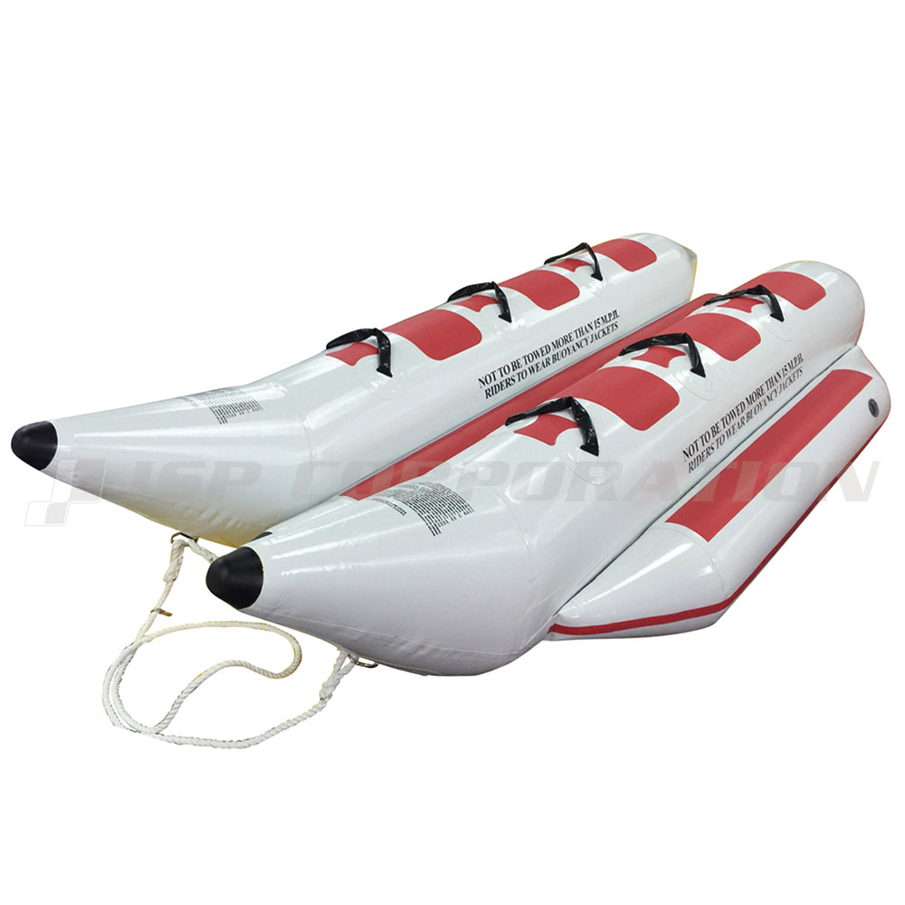 【全国どこでも送料無料】バナナボート 6人乗り 2列 ウォータースレッド ホワイト トーイングチューブ