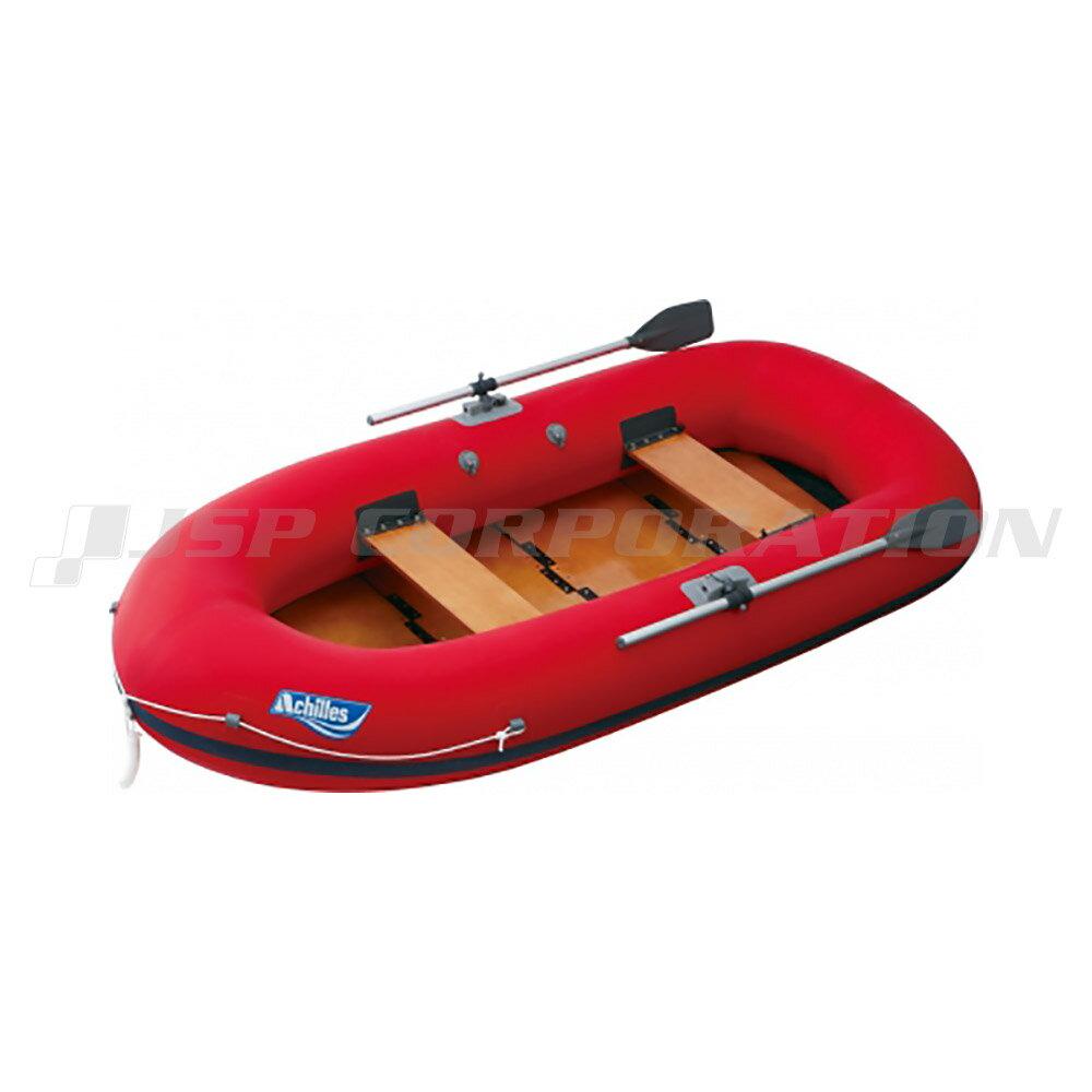 EC4-642 ウッドフロア レッド 4人乗り ゴムボート アキレス 手漕ぎ ローボート