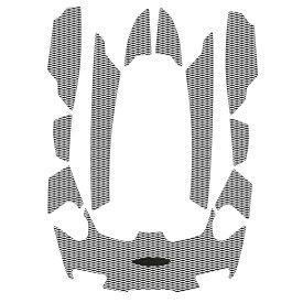 HYDRO-TURFツートンデッキマットキット(テープ付き)RXT-IS 260(09-11)/GTX S155(12)/RXT-X aS 260 RS(11-16)/GTX IS 215(10) GTX LTD-IS(09-17) DYAMOND/BLACK/WHITE