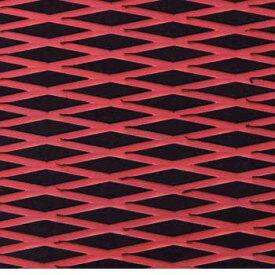 HYDRO-TURFツートン汎用トラクションマット(テープ付き)カットダイヤ BLACK/RED