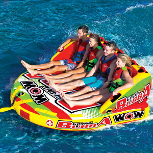 トーイングチューブ WOW/ワオ 4人乗り ジャイアントブッバ バナナボート ボート ジェットスキー