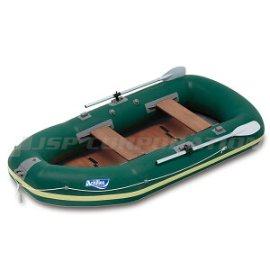 【3月1日限定P最大22倍】ECU4-942 ウッドフロア ダークグリーン 4人乗り ゴムボート アキレス 手漕ぎ ローボート