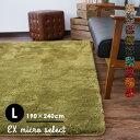 【在庫処分】ラグ ラグマット カーペット 絨毯 じゅうたん おしゃれ 洗える 滑りにくい オールシーズン 床暖房・HOTカーペット対応 グリーン 北欧 リビング neore / EXマイクロセレクト 190×240cm