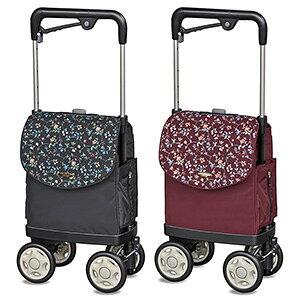 横押しタイプの ショッピングカート 「高齢者 横押し 4輪 軽量 買い物キャリーカート 買い物バッグ 介護用品」