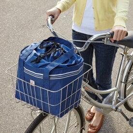 自転車カゴ用保冷温バッグ ネイビー  「自転車 カゴバッグ フロント 保冷 保温 お買い物バッグ 」