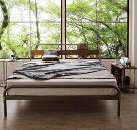 デザインスチールベッド Sidonia シドニア プレミアムボンネルコイルマットレス付き ダブル   家具 インテリア デザインベッド 省スペース 通気性抜群 無骨なフレームがかっこいい ナチュラル ヴィンテージスタイル