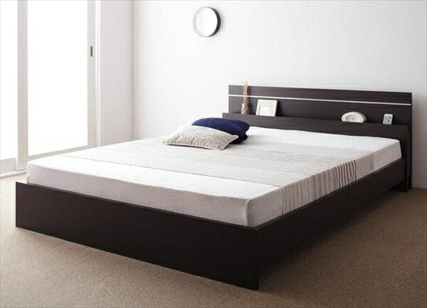 親子で寝られる・将来分割できる連結ベッド【JointEase】ジョイント・イース【ボンネルコイルマットレス付き】セミダブル  「ローベッド フロアベッド」
