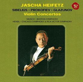 シベリウス、プロコフィエフ&グラズノフ: ヴァイオリン協奏曲 [Blu-spec CD2][CD] / ヤッシャ・ハイフェッツ(ヴァイオリン)