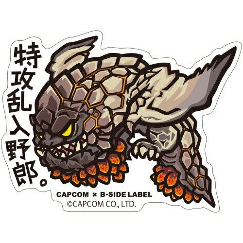 【カプコン】CAPCOM x B-SIDE LABEL ステッカー モンスターハンター:ワールド 特攻乱入野郎。[グッズ]