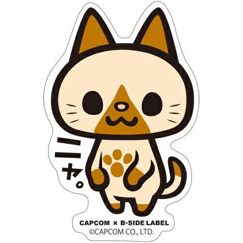 【カプコン】CAPCOM x B-SIDE LABEL ステッカー モンスターハンター ニャ。[グッズ]