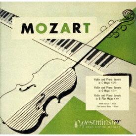 モーツァルト: ヴァイオリン・ソナタ第24番、第35番、第40番 [UHQCD] [限定盤][CD] / ワルター・バリリ (ヴァイオリン)