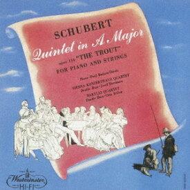 シューベルト: ピアノ五重奏曲「ます」 [UHQCD] [限定盤][CD] / パウル・バドゥラ=スコダ (ピアノ)