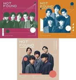【同時購入特典付き】 NOT FOUND[CD] [3タイプ一括購入セット] / Sexy Zone