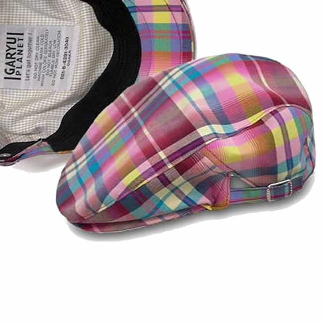 日本製 ハンチング 綿100% ハンチング 帽子 メンズ マドラスチェック サイド美錠 ハンチング  56〜59cm  GARYU PLANET ガリュープラネット メンズ・紳士 男性用 男女兼用 帽子