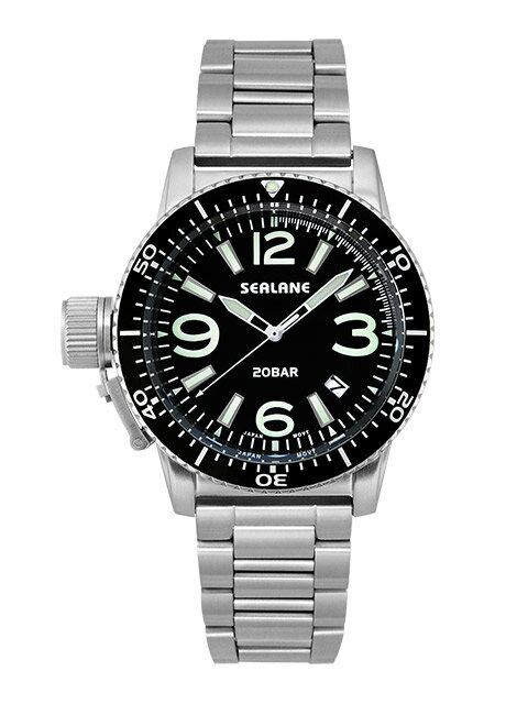 シーレーン 腕時計 SEALANE SE57-MBK