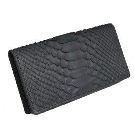 516fd5a3c4b5 パイソン 財布 日本製 メンズ 長財布 かぶせ 本革 小銭入れなし 蛇革 内側