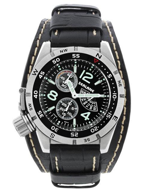 シーレーン 腕時計 SEALANE SE46-LBK