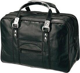 日本製 ボストンバッグ メンズ ゴルフバッグ 銀行鞄 ボストンバッグ ビジネス ボストン メンズバッグ合皮 レザー 革 ボストンバッグ ダブルファスナー ゴルフ トラベル 旅行 出張 2泊 3泊 マチ拡張 旅行鞄 ボストンバッグ メンズ Mサイズ 黒