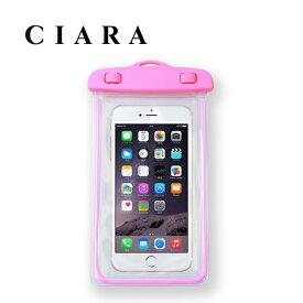 ピンク 防水ケース スマホ iPhone 6 6Plus 5 5s 5c 4 4s ANDROID GALAXY XPERIA カバー スマートフォン ブルー グリーン オレンジ ピンク 海 プール  tdm