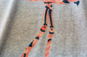 【OTACCIMANdesPLIME×nesnoo】紅鶴発砲プリント半袖和柄Tシャツ