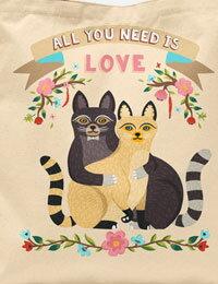 【コットン】I_love_Cat(16種類イラスト)VH-DTPオックスフォードカットクロス