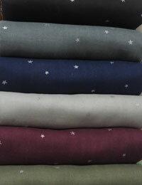 【ダブルガーゼ】ふわふわ星のダブルガーゼ