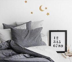 生地布【コットン】お月様と星Goldleaf(金箔)【手作り手芸月星夜空】【商用利用可】