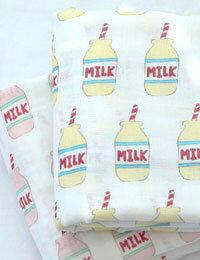【初夏の手作りマルシェ!】【ダブルガーゼ】I need Milk(アイニードミルク)大幅150cmダブルガーゼ