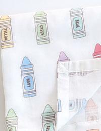 【初夏の手作りマルシェ!特別価格】【ダブルガーゼ】I need Crayon(アイニードクレヨン)大幅150cmダブルガーゼ