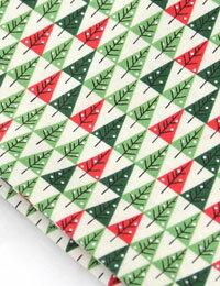 【初夏の手作りマルシェ!特別価格】【コットン】クリスマスパインツリーコットン