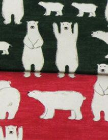 """生地 布 【 コットン 】Colony """"Poler Bear""""(コロニー ポーラーベアー キャンバス) 【 手作り 手芸 北欧風 動物柄 クマ 】 【 商用利用可 】【 入園入学セール 特別価格 】"""