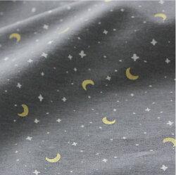 【コットン】お月様と星Goldleaf
