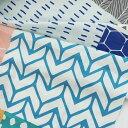 生地 布【 リネン 】Pastel Stockholm(パステルストックホルム)- all in one patch【 手作り 手芸 幾何学模様 】【再入荷】 【 商用利…