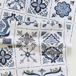 【コットン】ブルータイルアズレージョ(Blue_Tile_Azulejo)