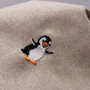 ( 刺繍リネン ) フライングペンギン(Flying Penguin) リネン【 商用利用可 】【 お買い物マラソン 特別価格 】
