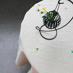 プチチェリーチューリップハート刺繍生地