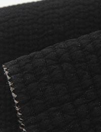 【キルティング】7mm_Black_ラインキルティングナチュラルコットンアンジェラ