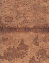 【Printed_on_DuPont™Tyvek®】芯付きアンティークマップ(デュポン™タイベック®に印刷しました)