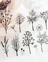☆ニューアイテム!◆◆SALE!!特別価格☆【ファブリックシール】Mono Plant 3D Fabric シール