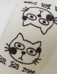 【ラベル】ネコのミーちゃん/挟みタグコットンラベル